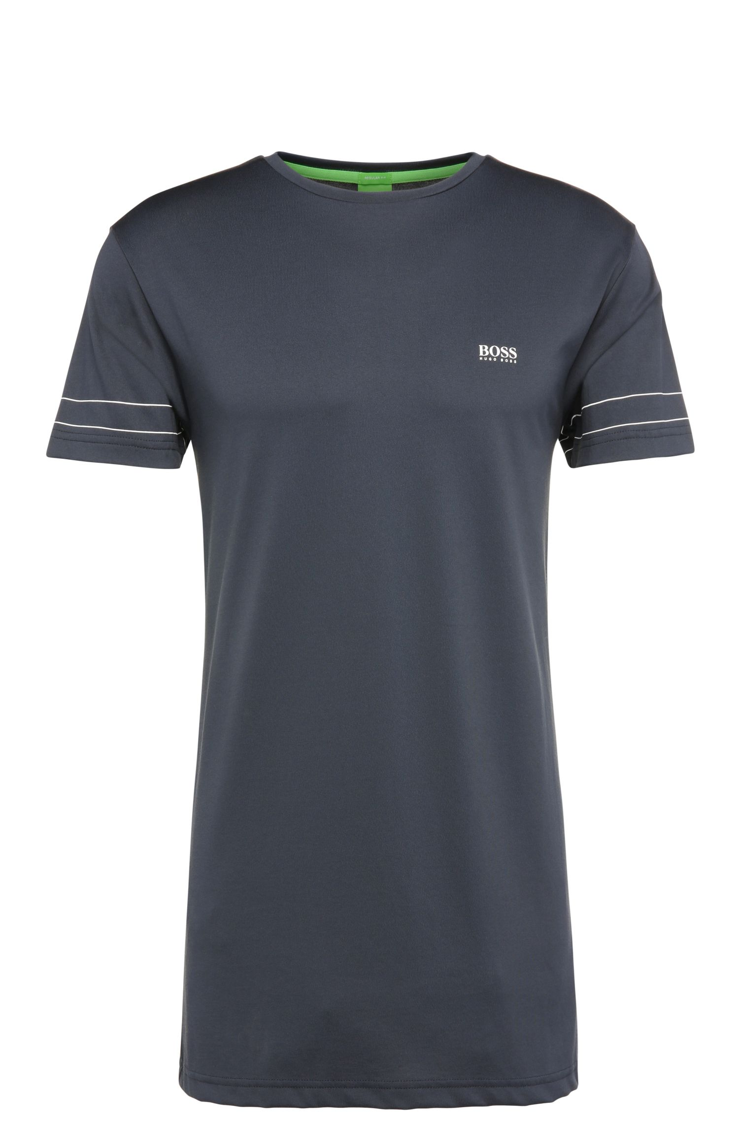 Regular-Fit T-Shirt aus Baumwoll-Mix: ´Teelong 1`