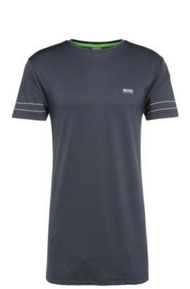 T-shirt regular fit in misto cotone: 'Teelong 1', Blu scuro