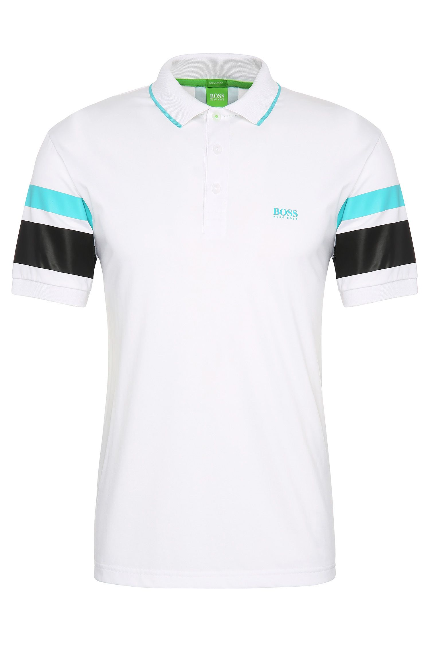 Regular-fit cotton blend polo shirt: 'Paddy 5'