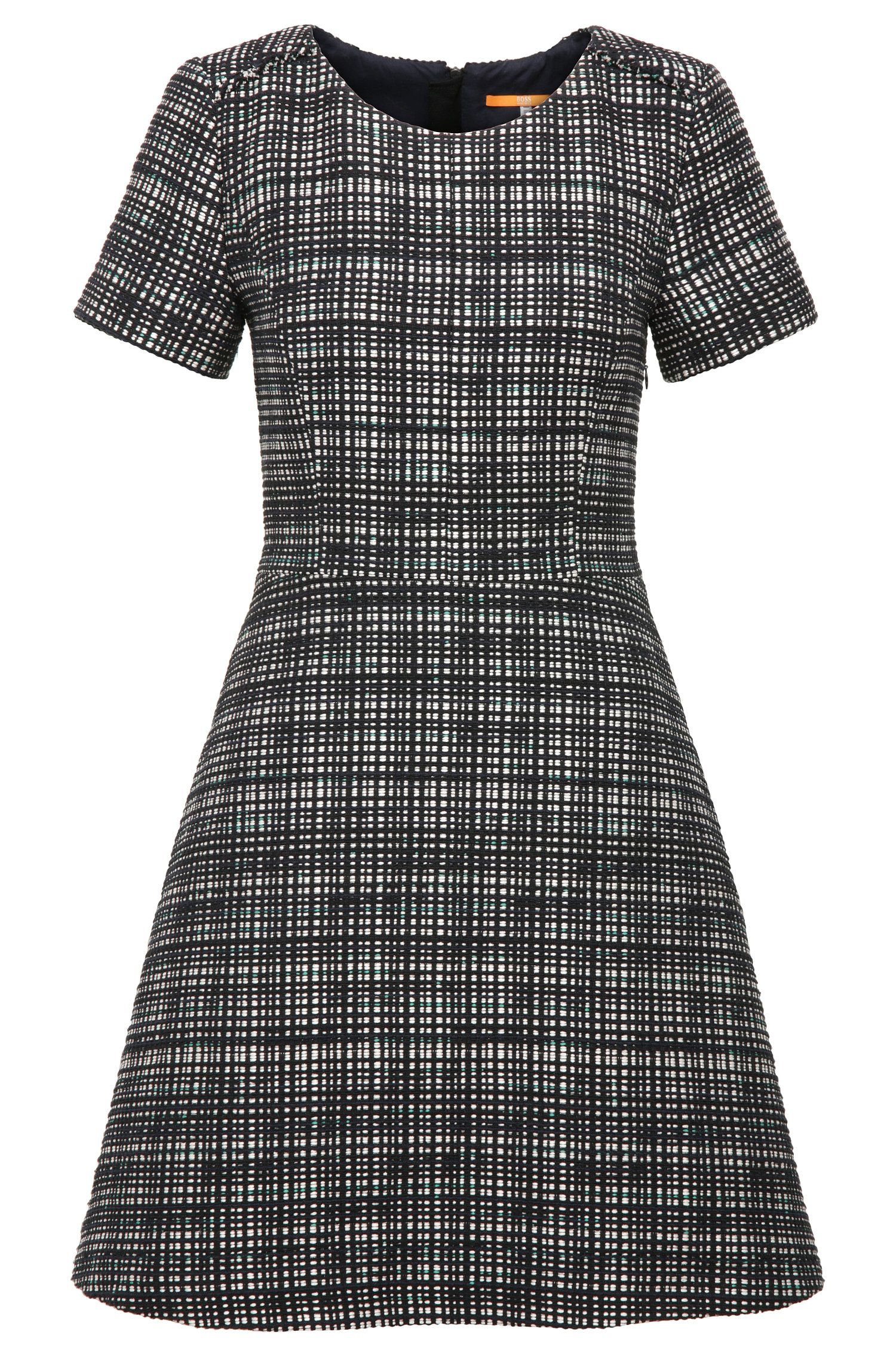 Tweed-Kleid aus Baumwoll-Mix: ´Amodila`