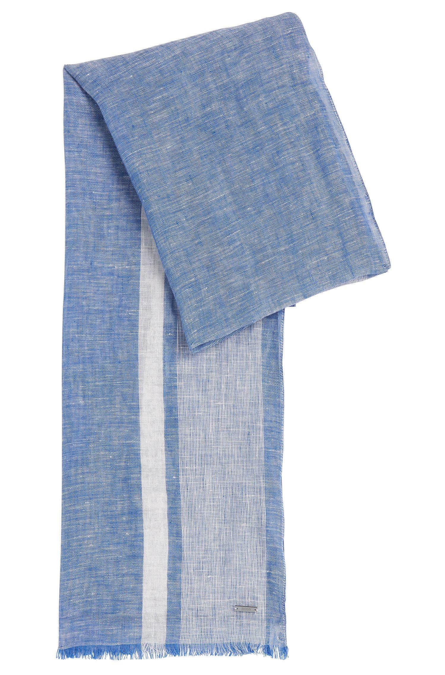 Mottled linen scarf: 'Cabello'