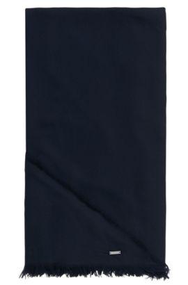 Driehoekige omslagdoek van een katoenmix met modal: 'Pulmas', Donkerblauw