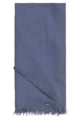Pañuelo triangular en mezcla de algodón con modal: 'Pulmas', Celeste