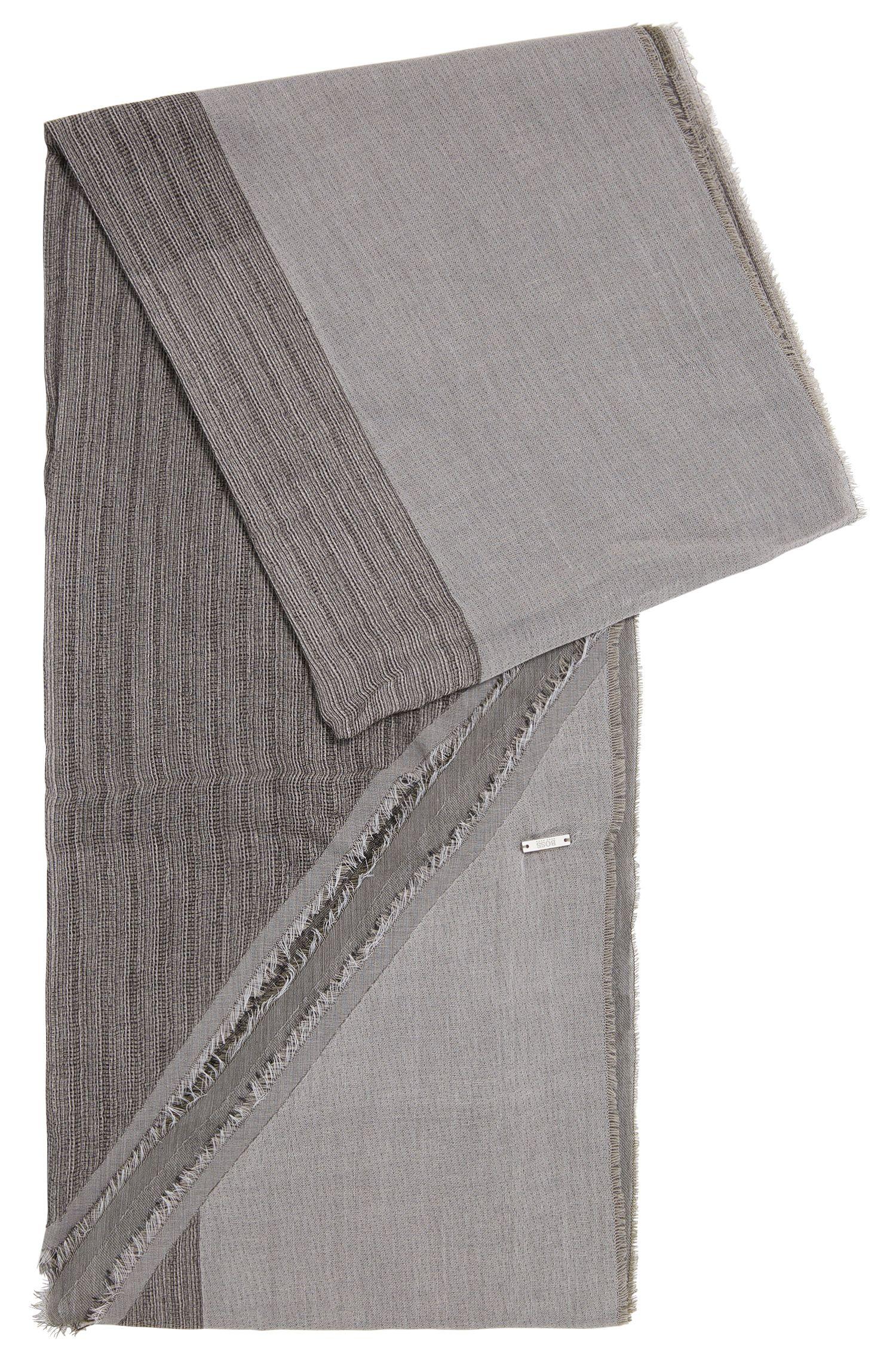 Écharpe en coton aux finitions asymétriques: «Pulco»