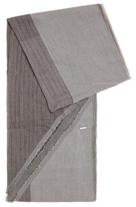 Chal de algodón con extremos asimétricos: 'Pulco', Gris