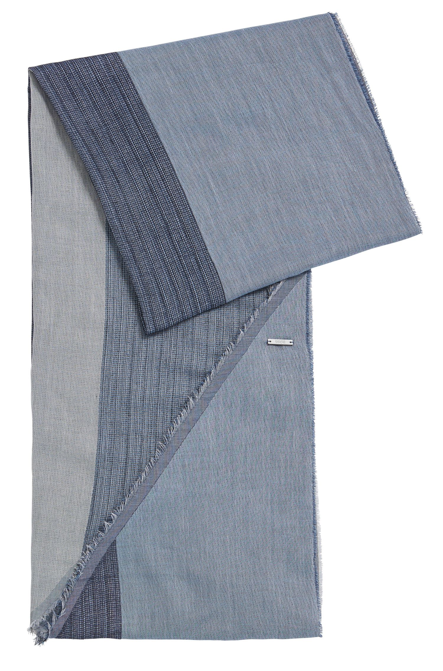 Sciarpa in cotone con bordi asimmetrici: 'Pulco'