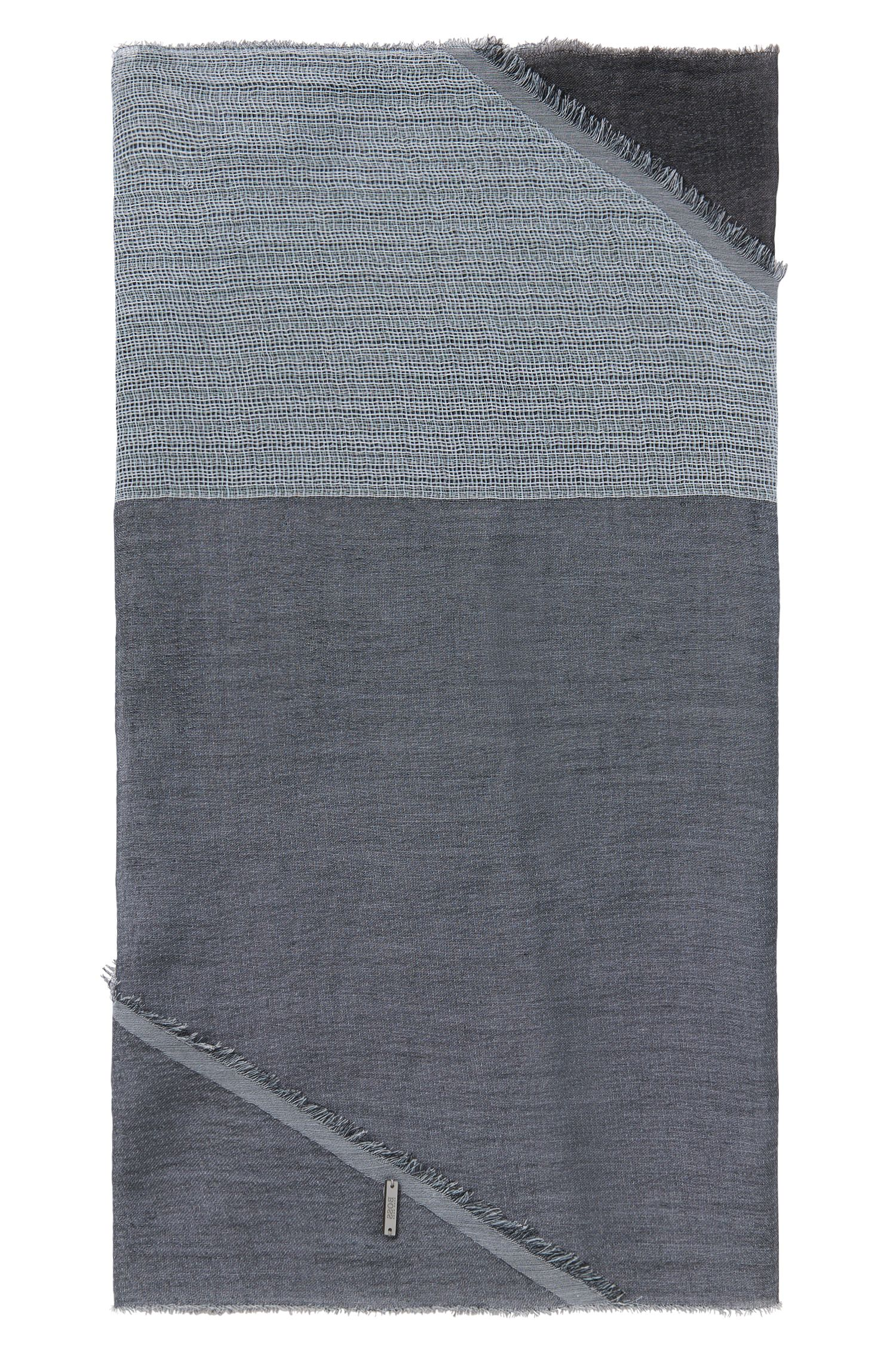 Scarf in cotton with asymmetric hems: 'Pulco'