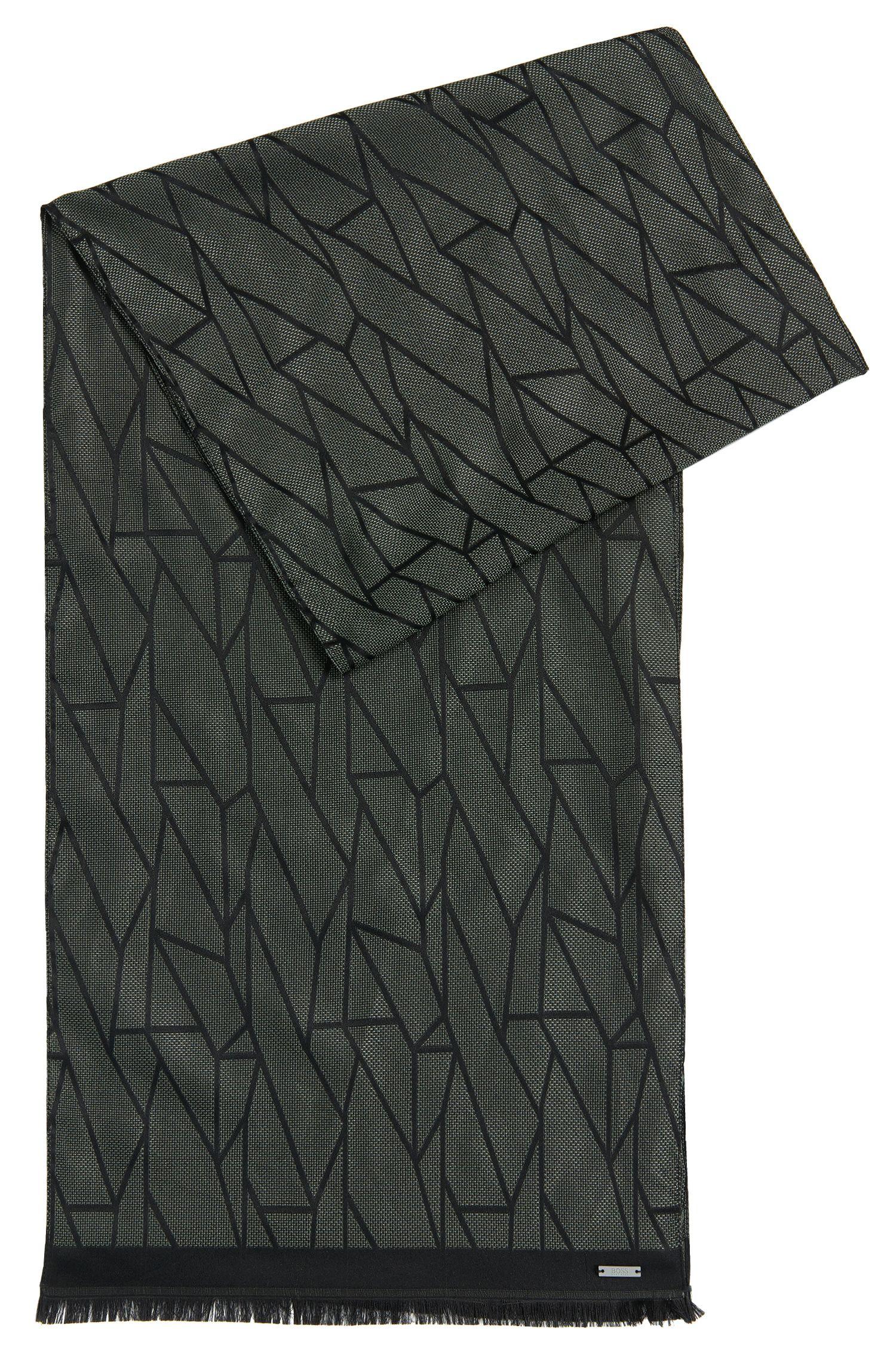 Écharpe imprimée en soie: «Penncos»