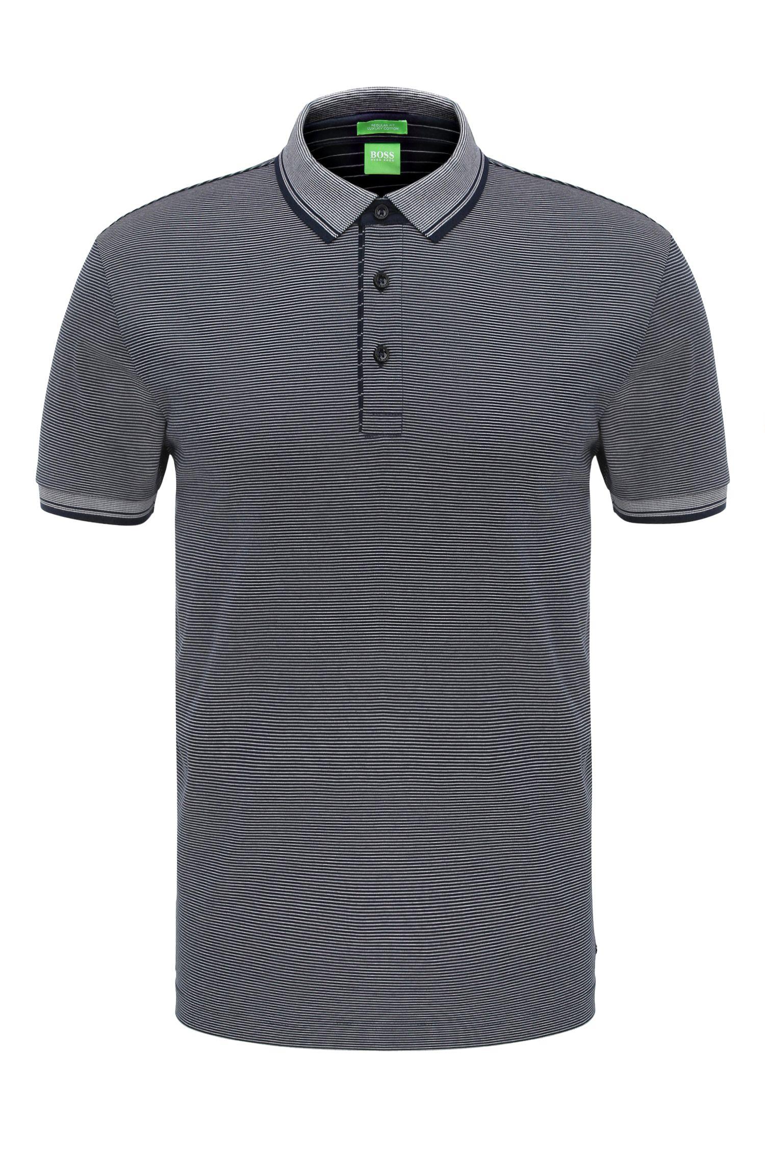 Polo Regular Fit, en coton à rayures: «C-Janis»