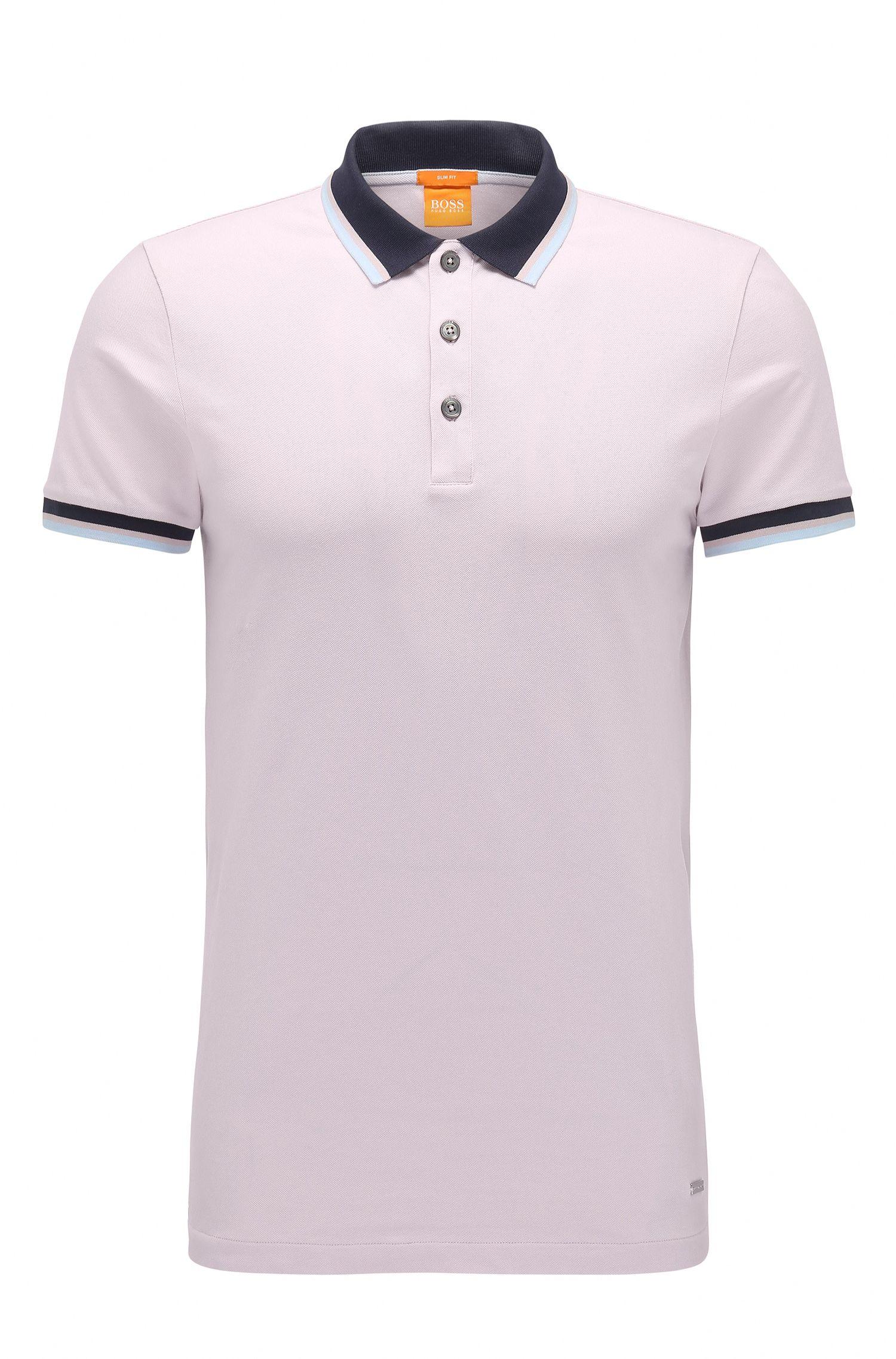 Polo Slim Fit en coton extensible: «Pay»