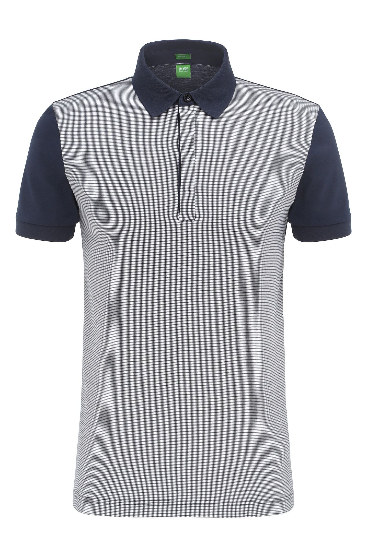 Regular-fit cotton polo shirt in a 2-tone look: 'C-Genova 2'