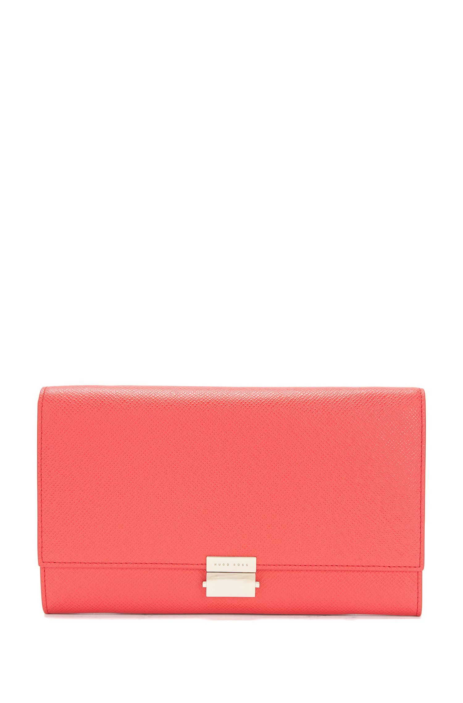 Textured leather clutch bag with metal chain: 'Munich Mini FPA'