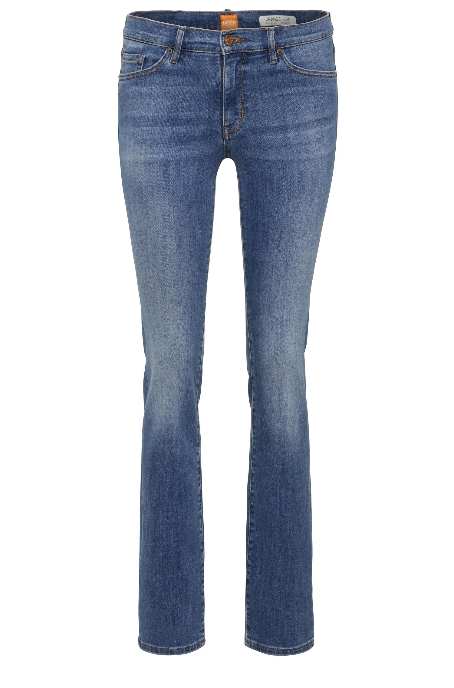 Slim-fit jeans in stretch-cotton blend: 'Orange J30'