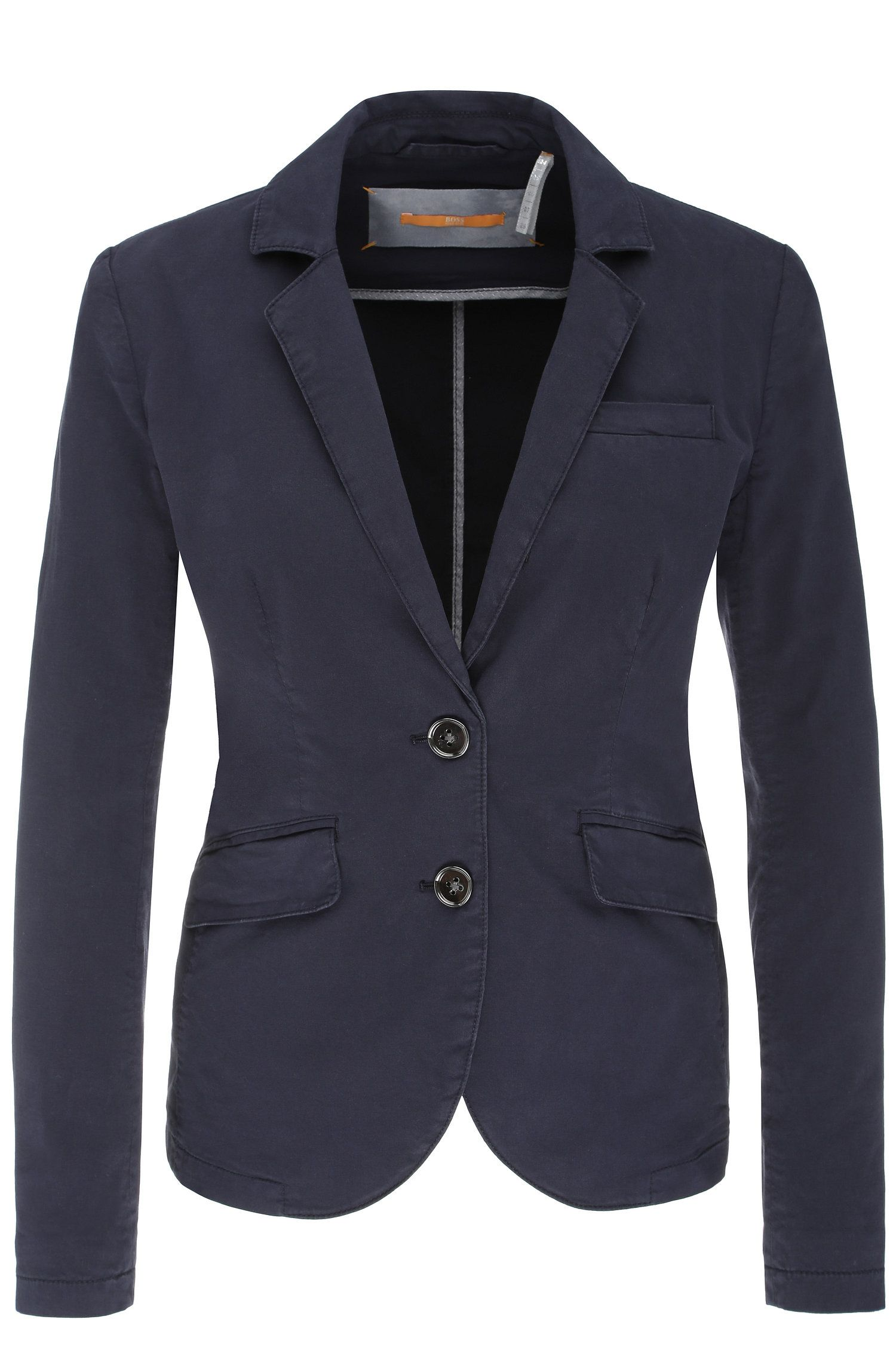 2-button blazer in stretch cotton: 'Owiny-D'