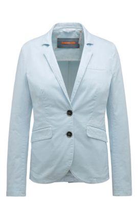 Blazer à deux boutons en coton extensible: «Owiny-D», Bleu vif