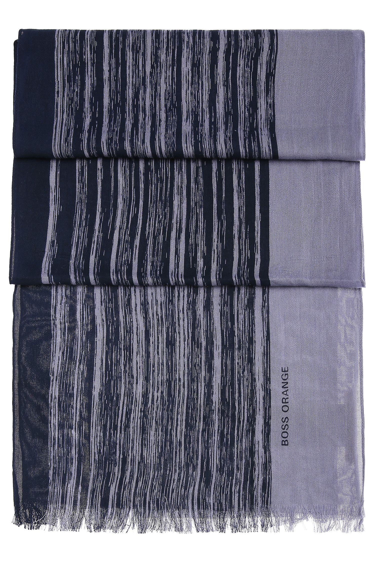 Gestreifter Schal aus leichtem Baumwoll-Mix: ´Nabril-1`