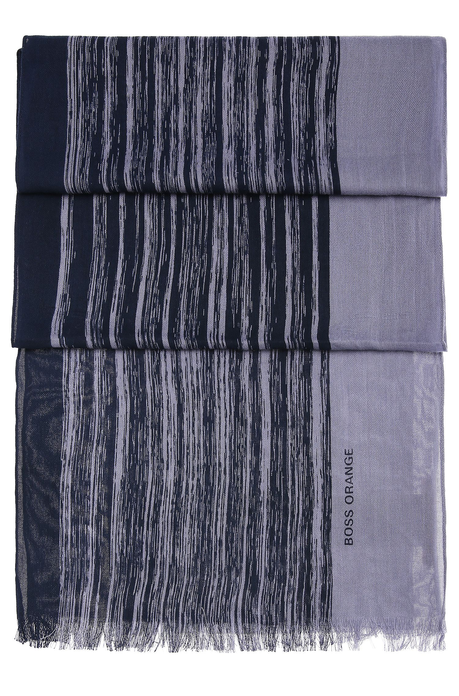 Chal a rayas en mezcla de algodón ligero: 'Nabril-1'
