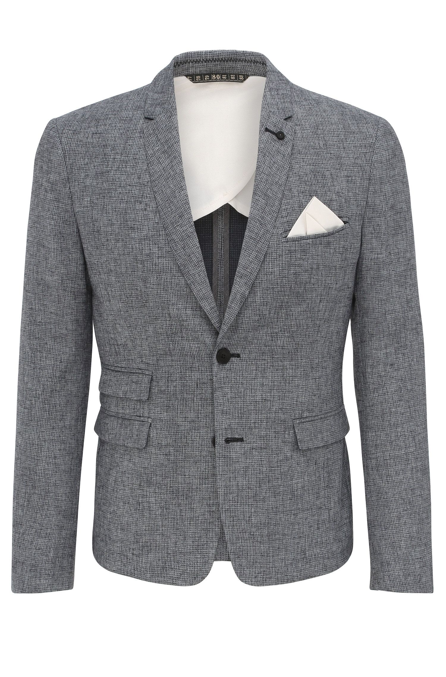 Blazer slim fit in misto cotone con lino: 'Baem_BS'
