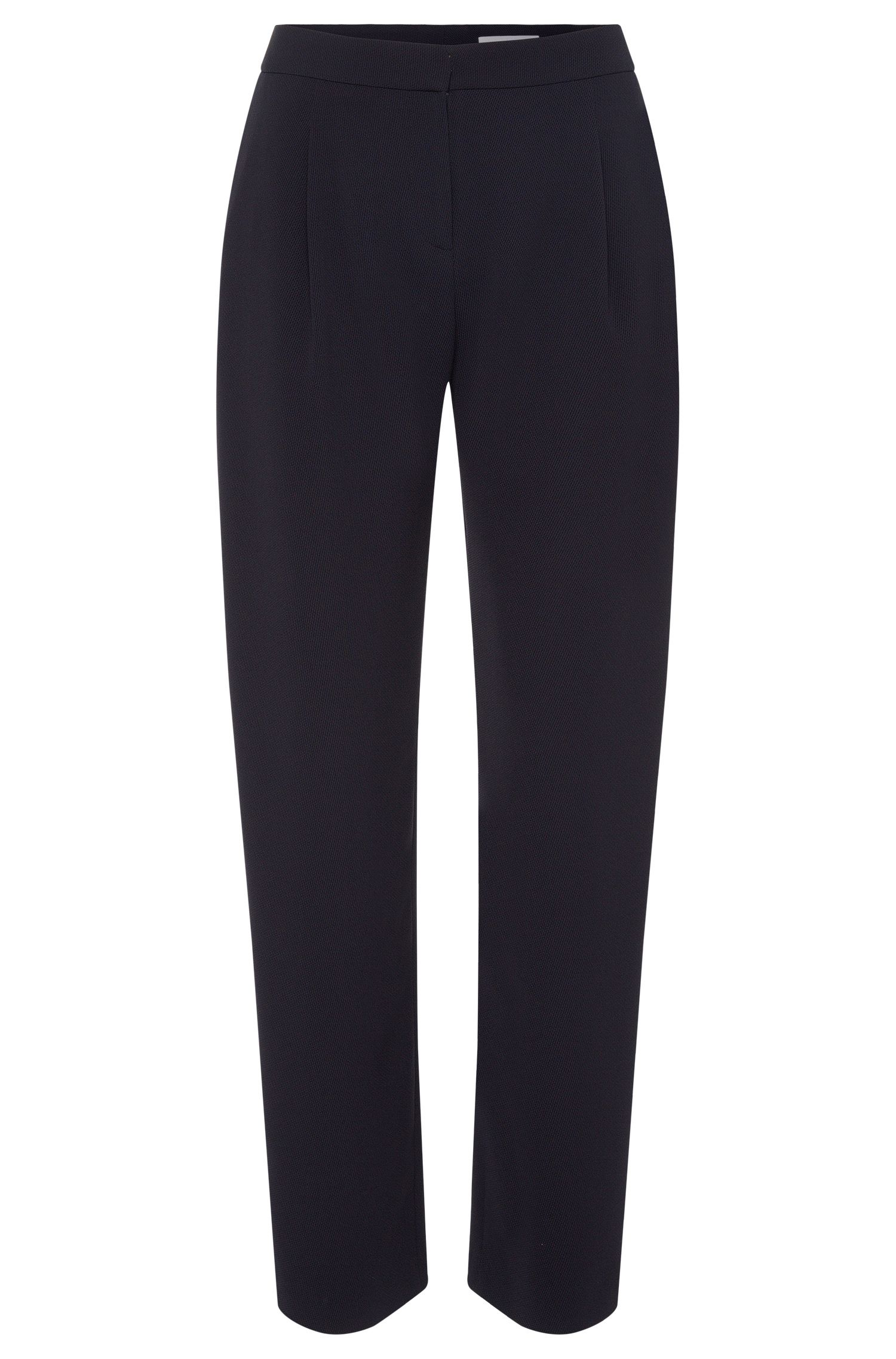Textured relaxed-fit trousers: 'Tesinea'