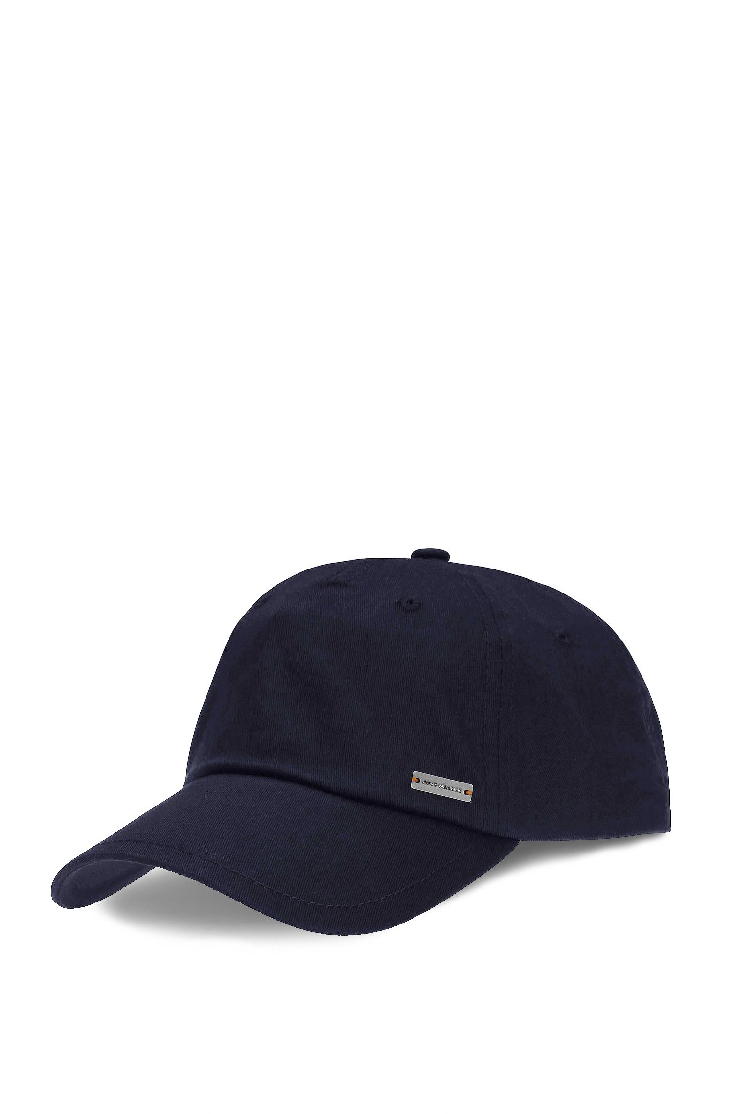 Adjustable baseball cap in cotton twill