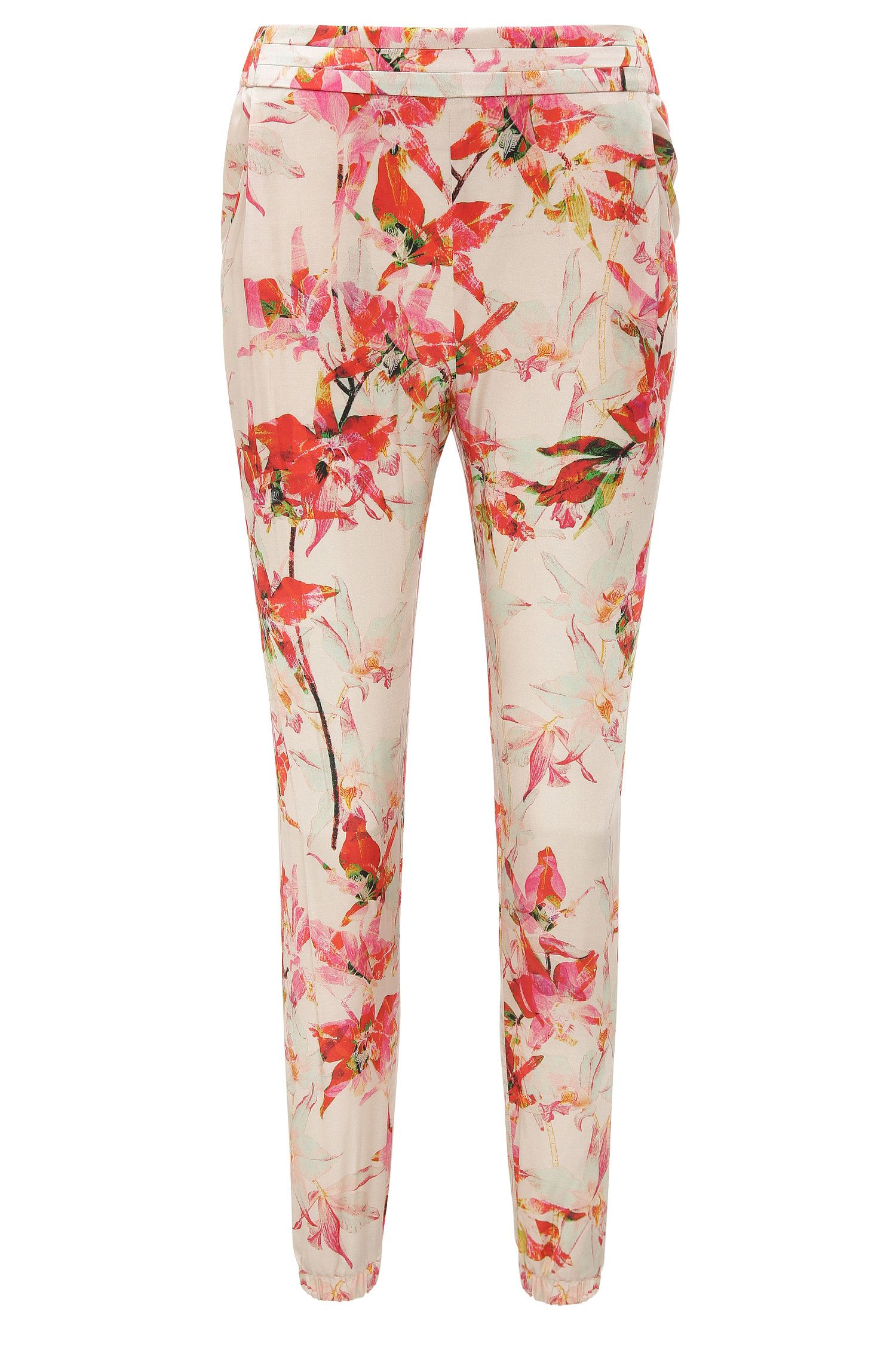 Trousers in a viscose blend with silk in jogger style: 'Selise'