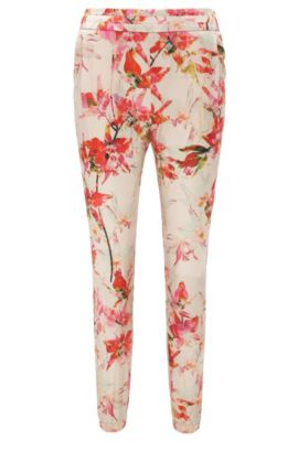 Trousers in a viscose blend with silk in jogger style: 'Selise', Patterned