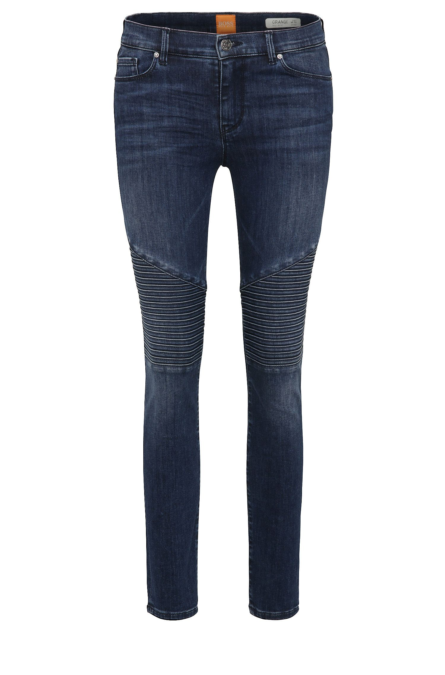 Cropped skinny-fit jeans in a stretchy cotton blend: 'Orange J10 Helena'