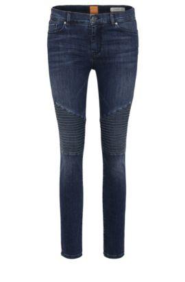 Gecroppte Skinny-Fit Jeans aus elastischem Baumwoll-Mix: ´Orange J10 Helena`, Dunkelblau