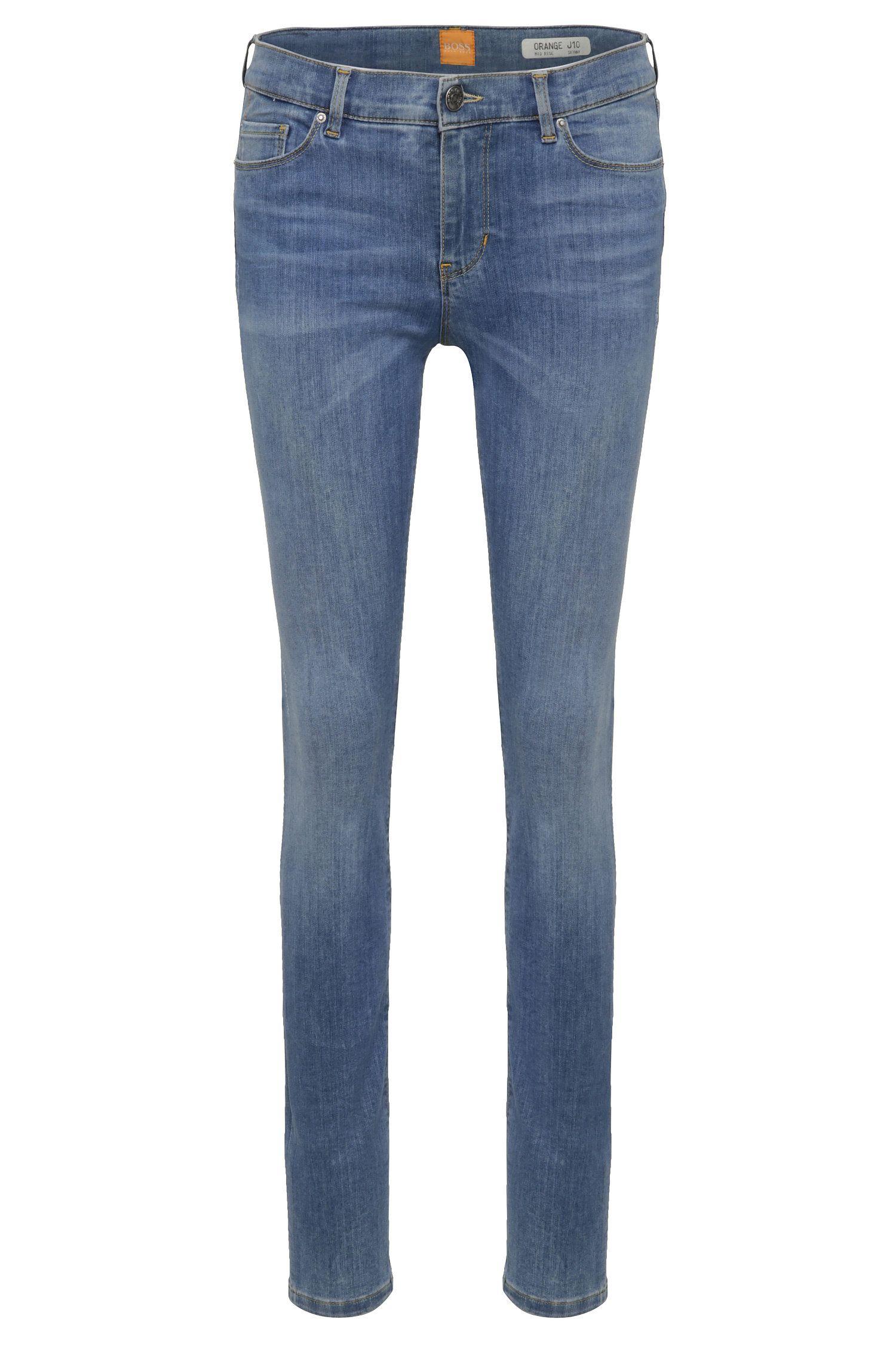 Jeans skinny fit slavati in misto cotone elasticizzato: 'Orange J10'