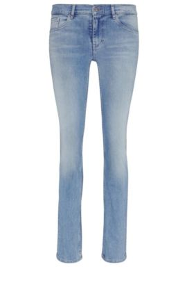 Regular-fit jeans in stretch cotton blend: 'Orange J30 Tisdale', Blue