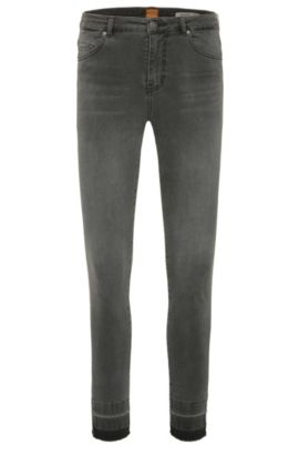 Faded skinny-fit jeans in a stretchy cotton blend: 'Orange J11 Mariposa', Dark Grey
