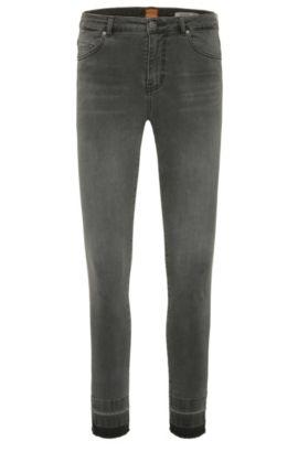 Jeans Skinny Fit aux effets délavés en coton mélangé extensible: «Orange J11 Mariposa», Gris sombre