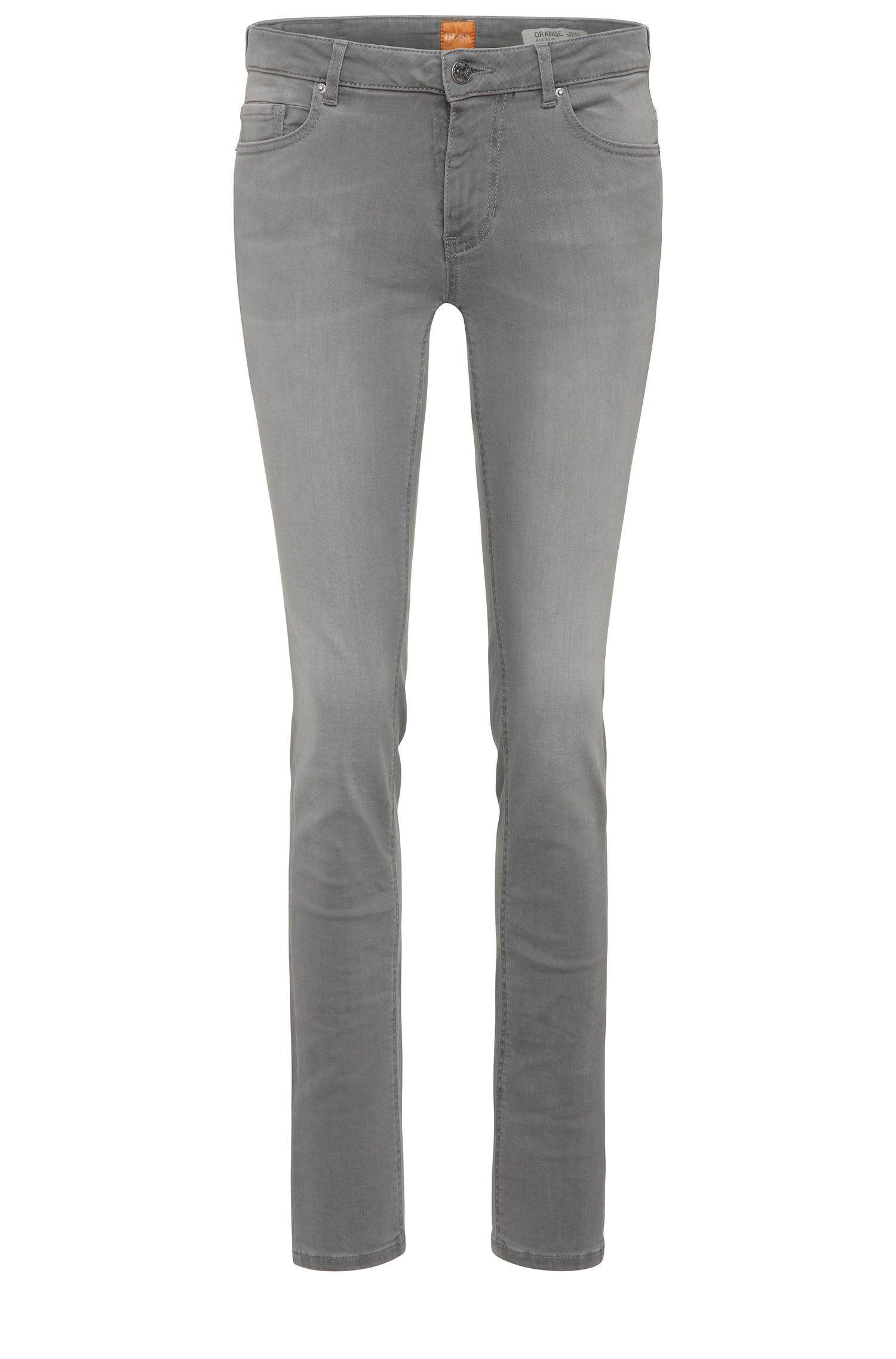 Jeans Slim Fit en coton mélangé extensible: «Orange J20 Sidney»