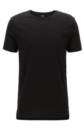 Slim-fit T-shirt in soft cotton jersey, Black