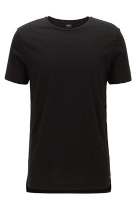 T-shirt Slim Fit en jersey de coton doux, Noir