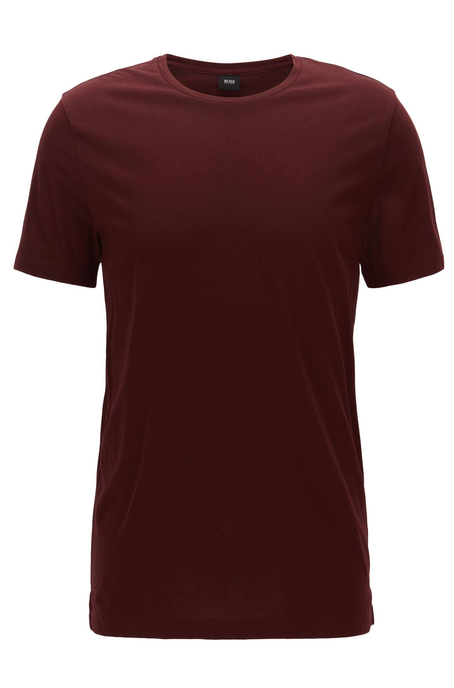 Camiseta slim fit en punto de algodón suave