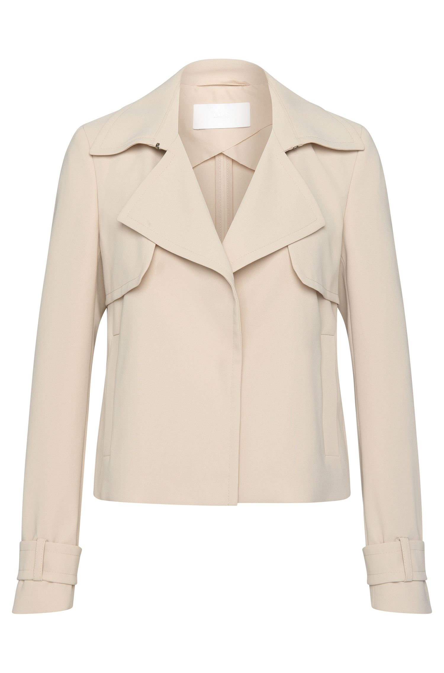 Short blazer with front yoke: 'Kallia'