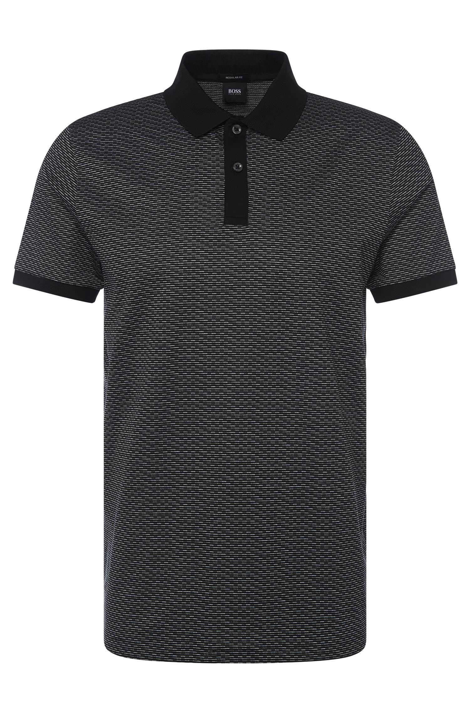 Gestreiftes Regular-Fit Poloshirt aus Baumwolle: 'Parlay 08'
