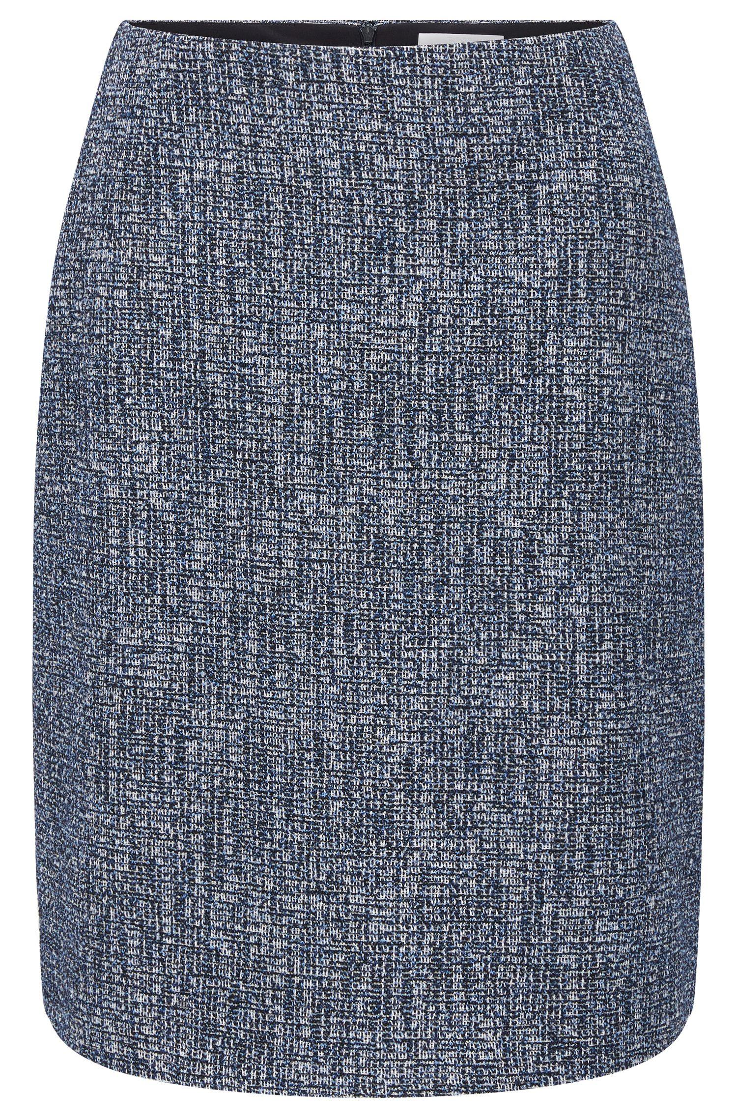 Slightly flared skirt in stretchy viscose blend: 'Maronita'