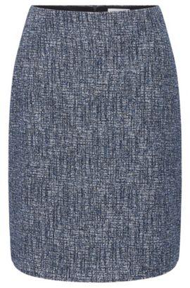 Slightly flared skirt in stretchy viscose blend: 'Maronita', Patterned