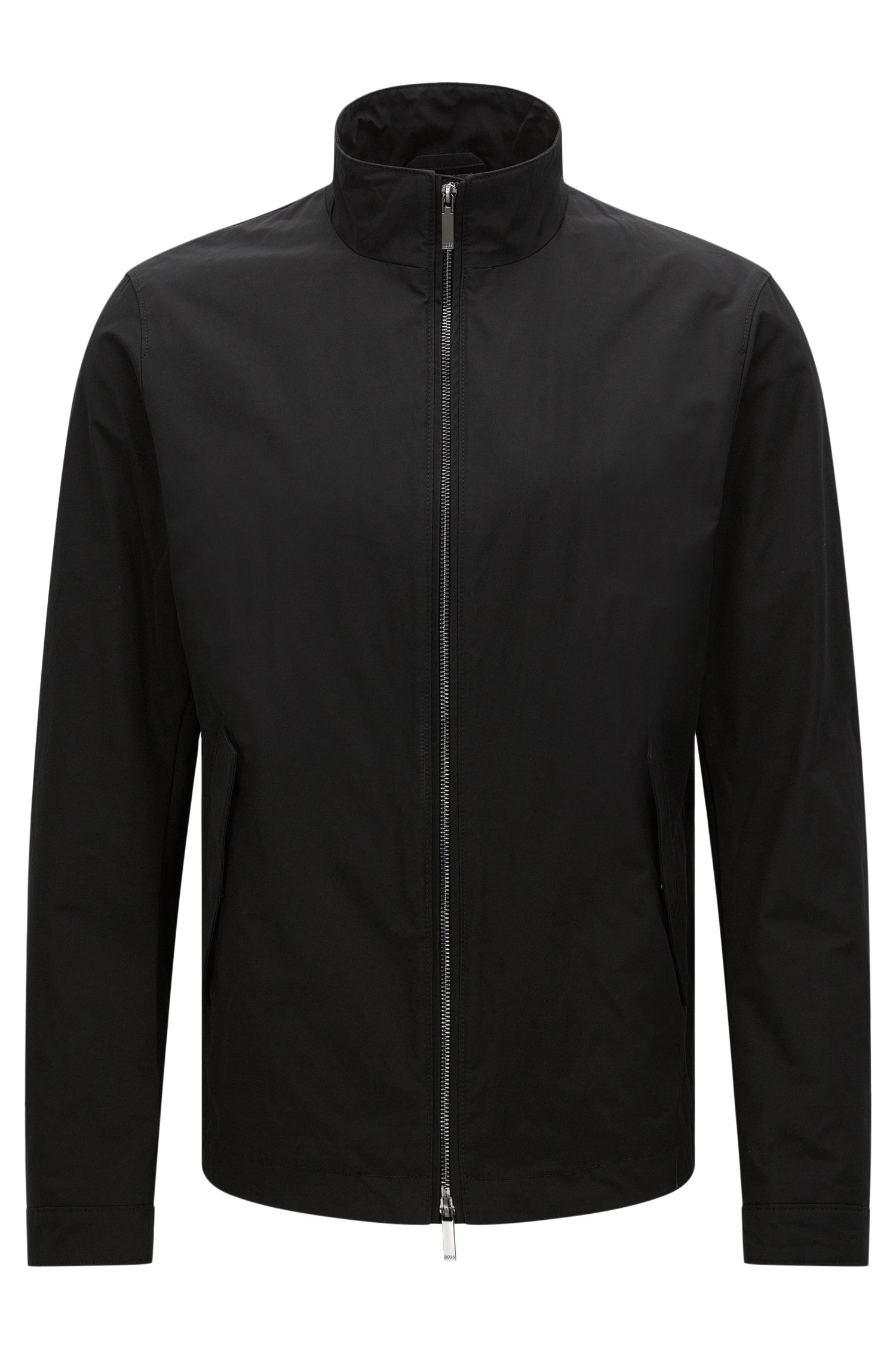 Water-repellent jacket with band collar: 'Calmar1'