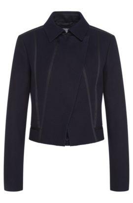 Textured blazer in stretchy cotton blend with viscose: 'Jaebina', Dark Blue