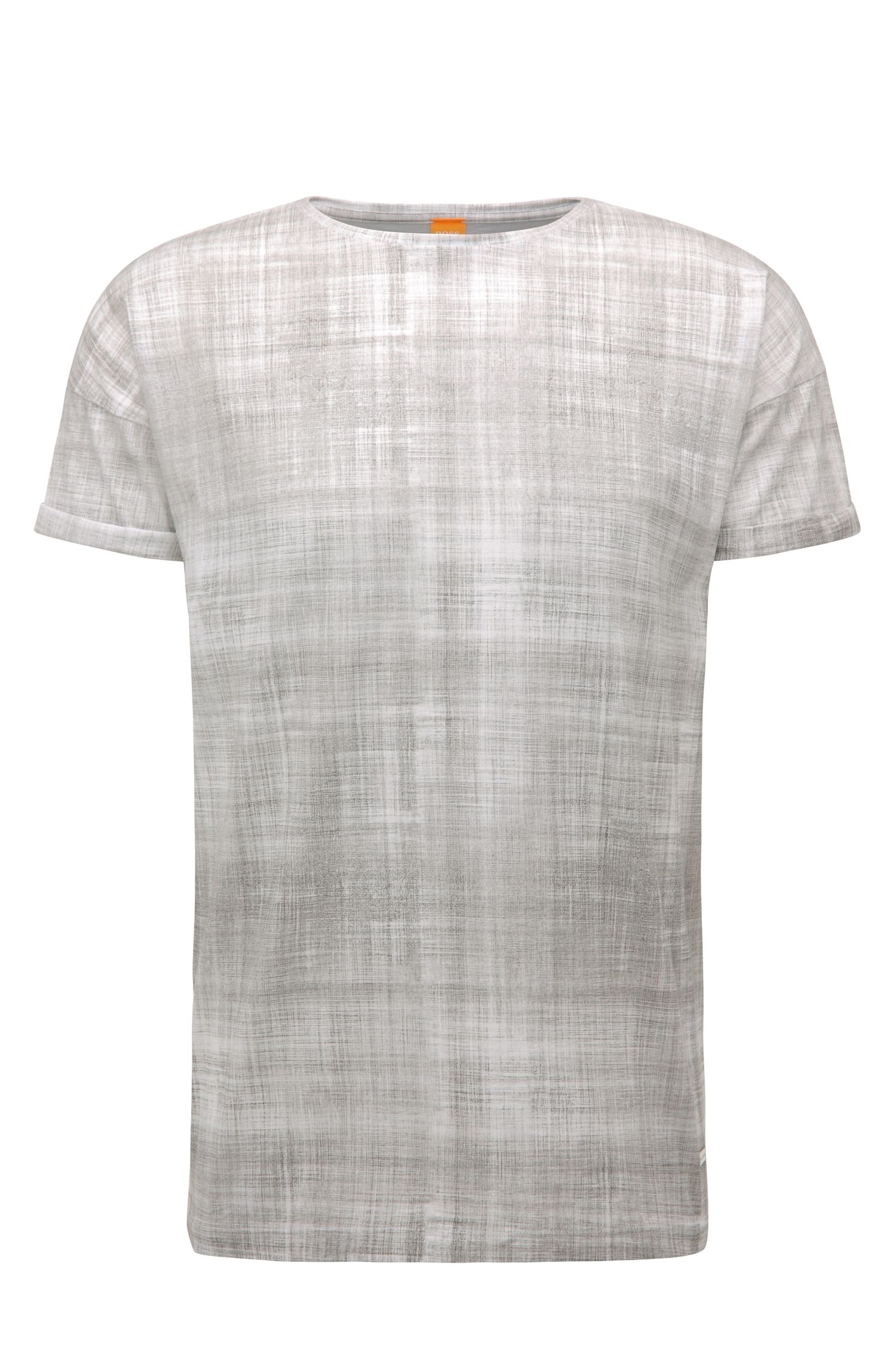 Relaxed-fit print T-shirt in cotton: 'Tomotion'
