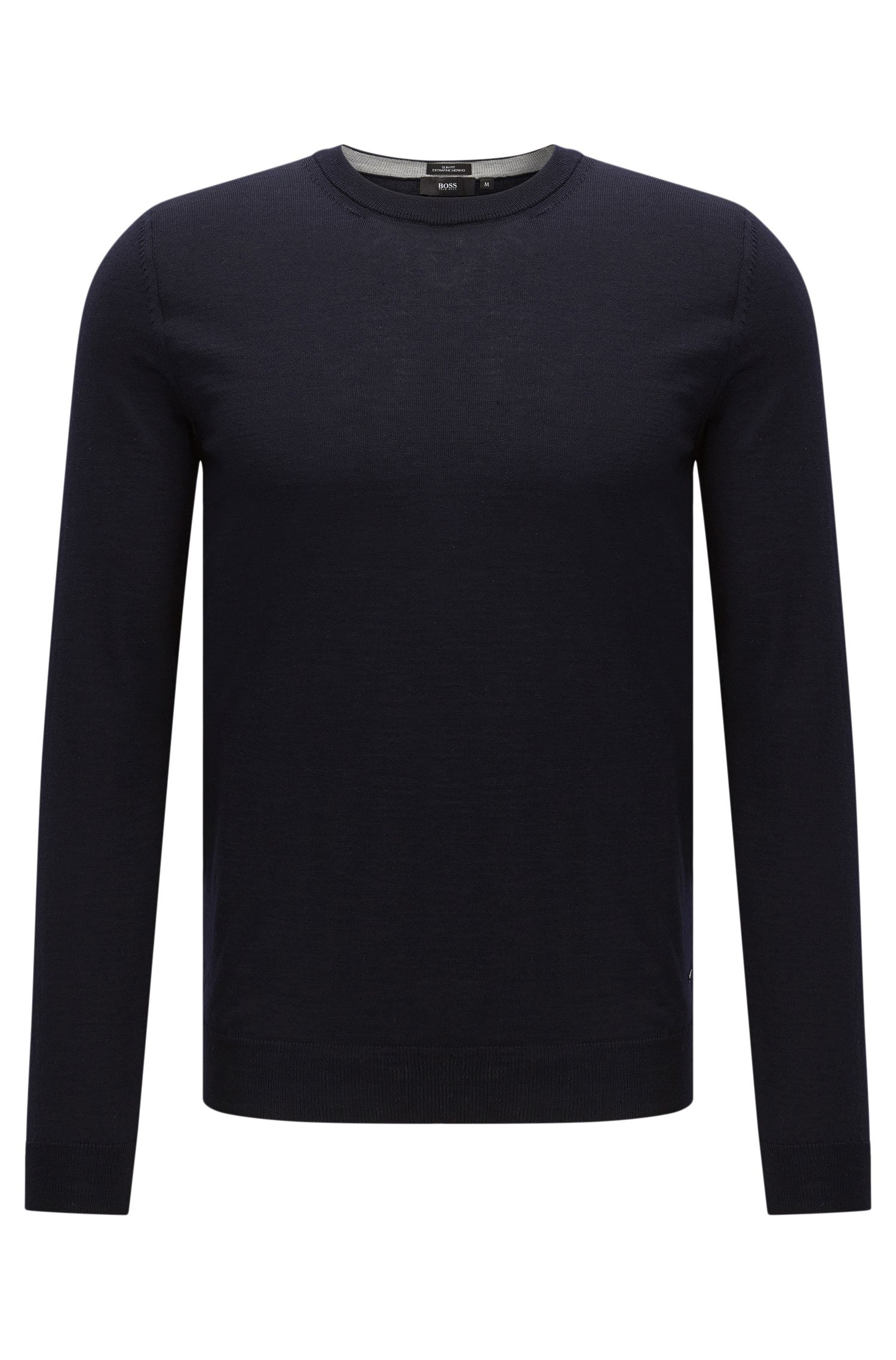 Slim-fit sweater in new wool: 'Leno-O'