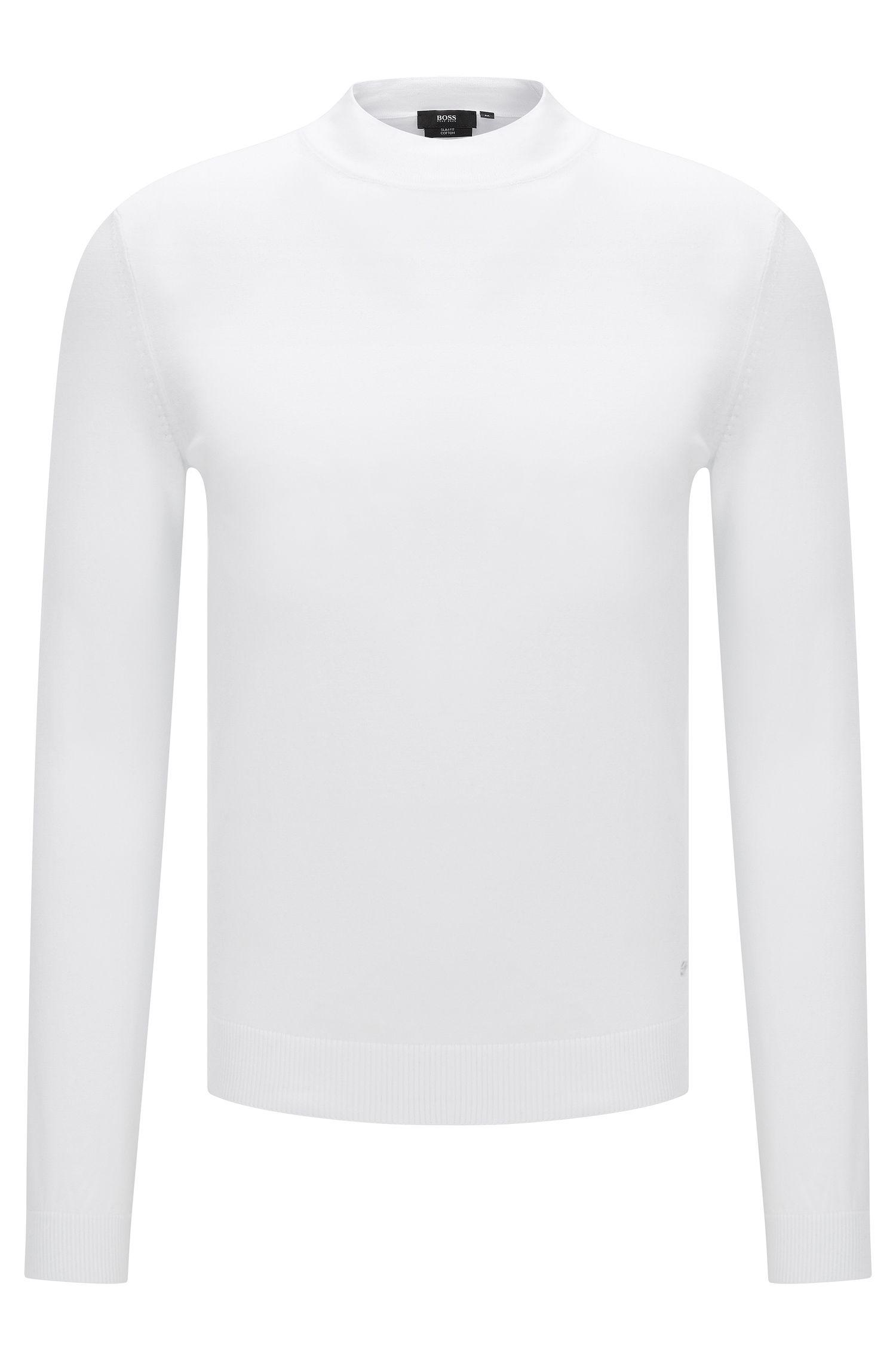Slim-fit trui van katoen met opstaande kraag: 'Olfrino'