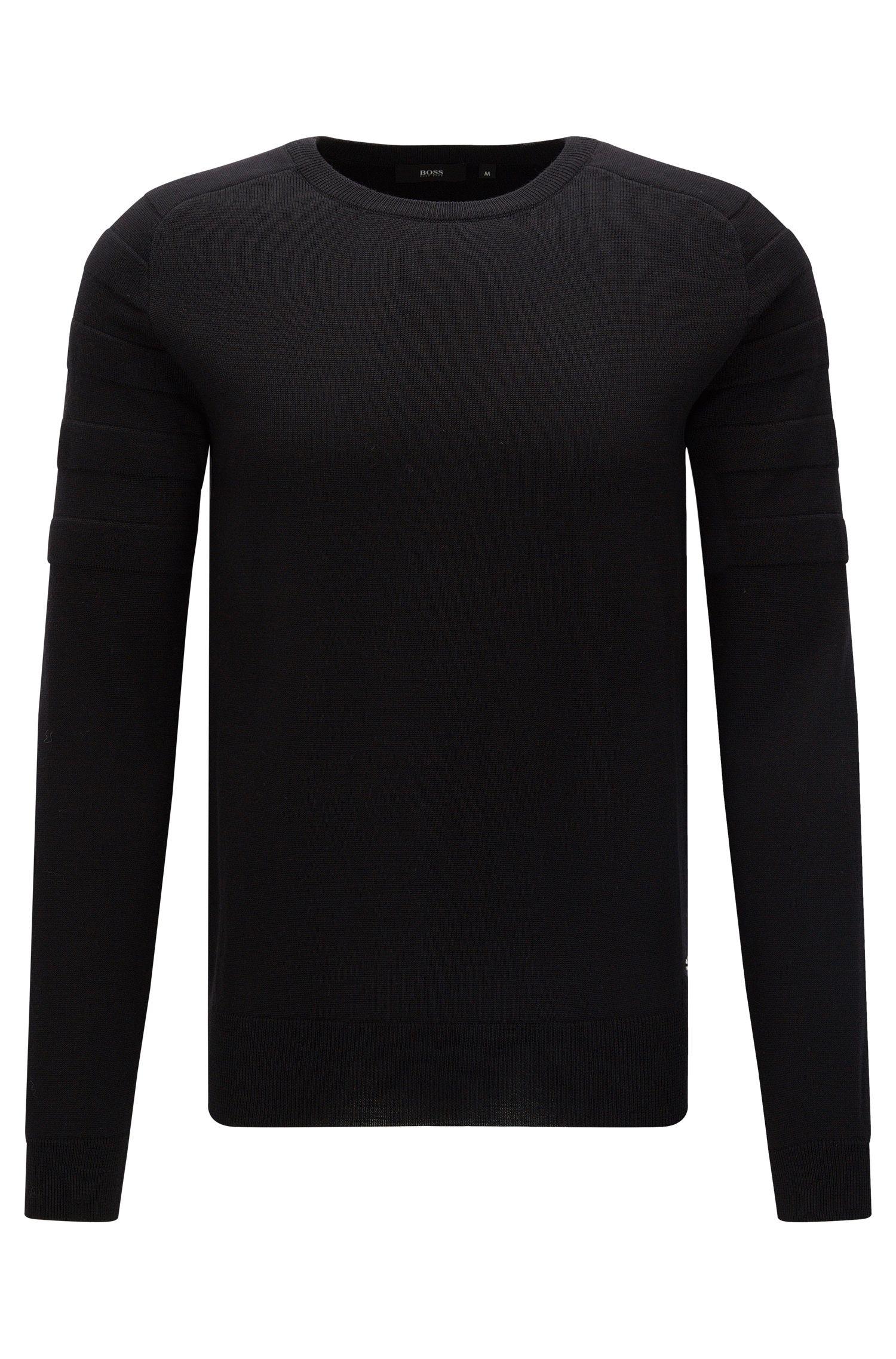 Pullover aus reiner Merinowolle im Biker-Stil