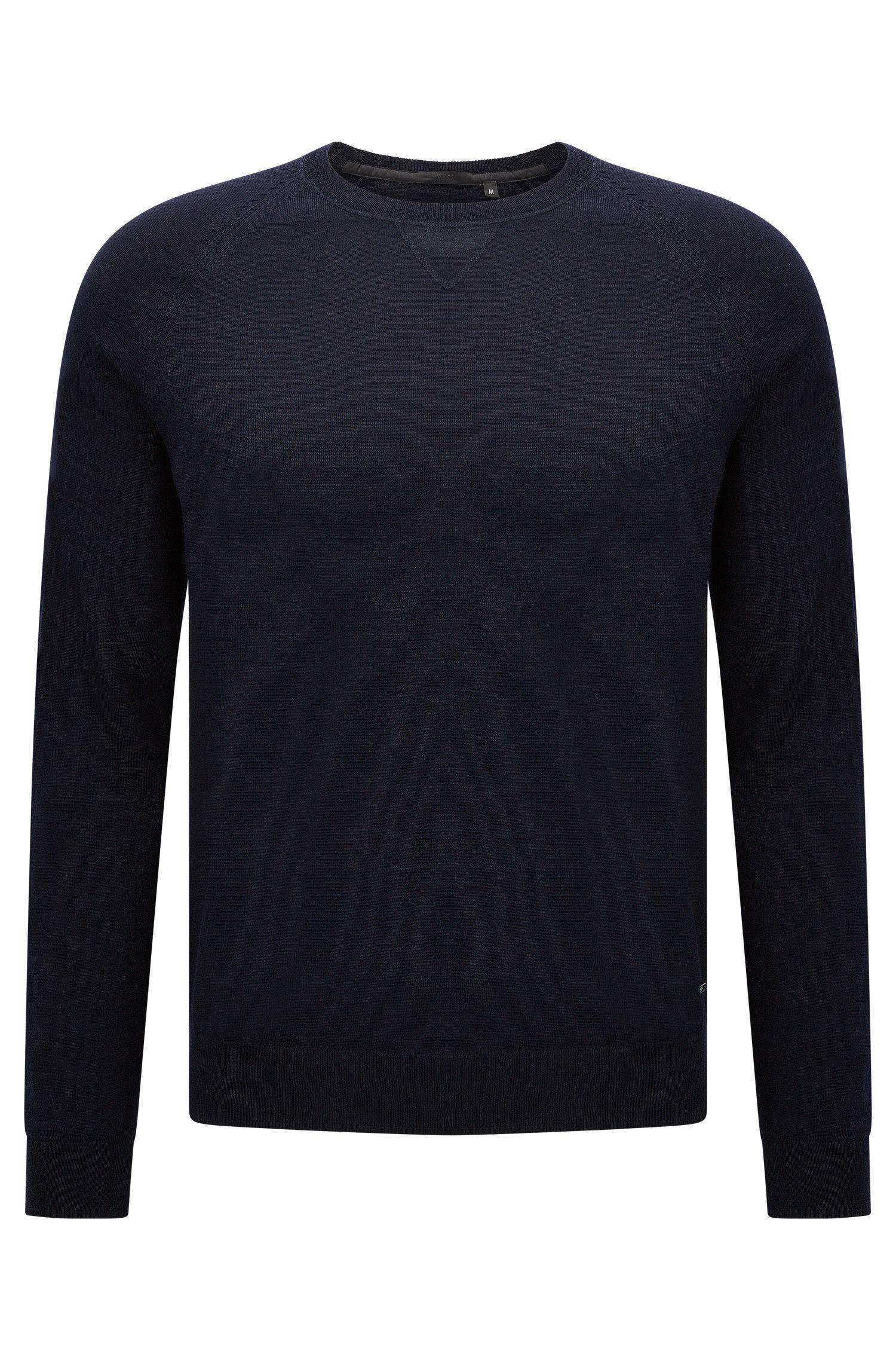 Plain regular-fit sweater in new wool: 'Obarni-WS'