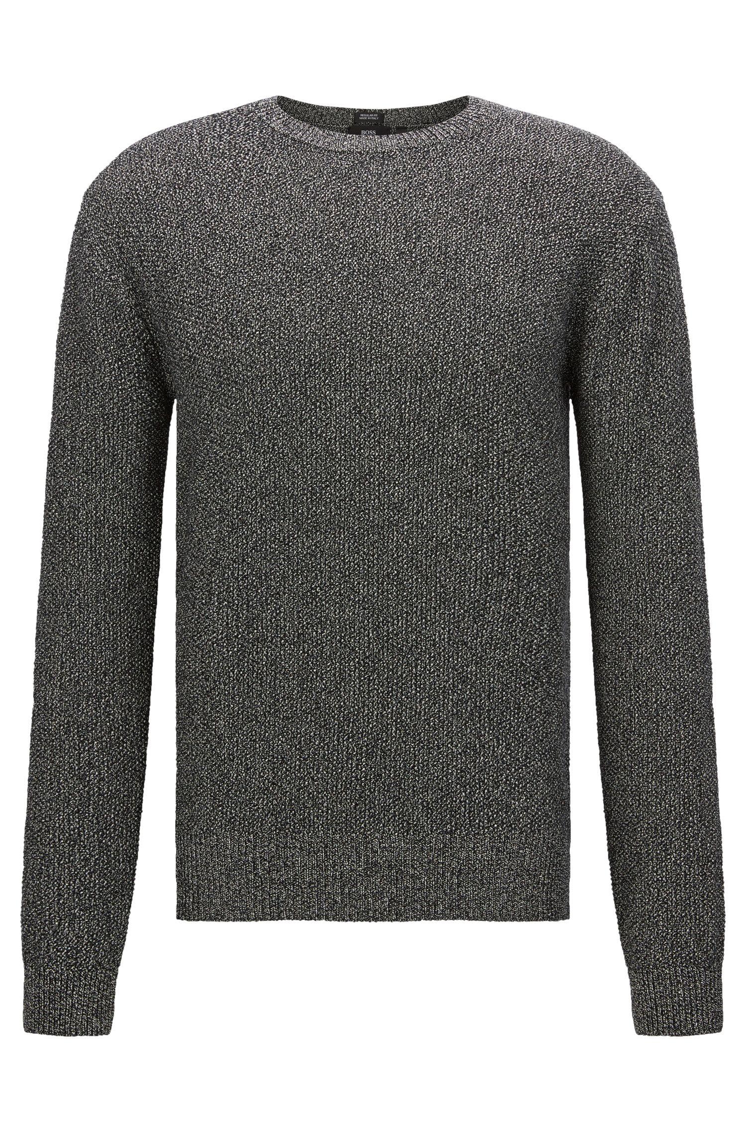 Melierter Regular-Fit Pullover aus Baumwolle: 'Orsino'