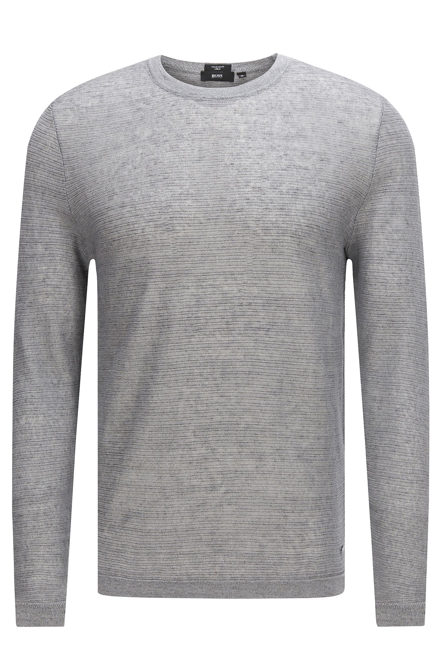 Textured sweater in linen: 'Ollivio'