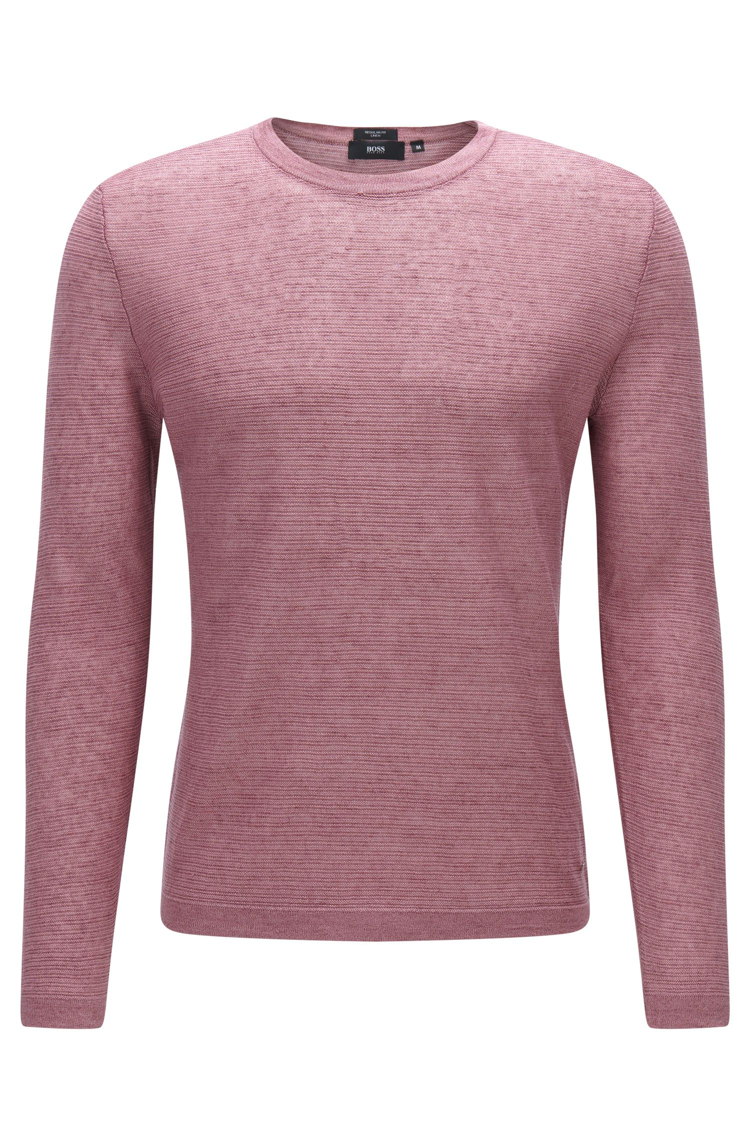 Strukturierter Pullover aus Leinen: 'Ollivio'